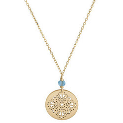Perle De Lune Art Deco Medal Necklace