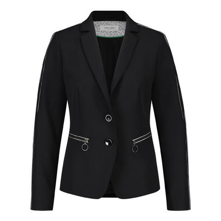 Tailored Piped Blazer