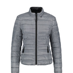 Reversible Gingham Quilted Jacket