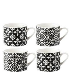 V&A Encaucstic Tile 4 Espresso Mugs