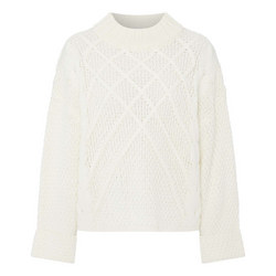 Cable Knit Flared Sleeve Sweater