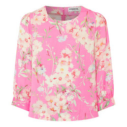 Floral Flared Sleeve Blouse