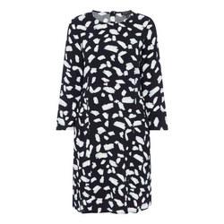 Brushstroke Print Shirt Dress