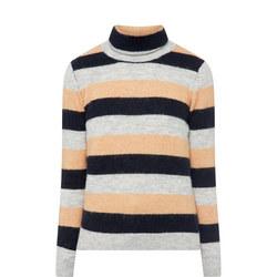 Stripe Roll Neck Sweater