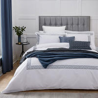 Hotel Collection Melbury Duvet Cover Prussian Blue