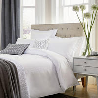 Hotel Collection Addison Duvet Cover White