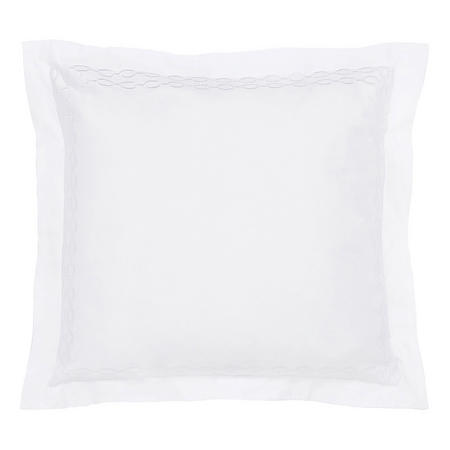 Hotel Collection Addison Square Oxford  Pillowcase Platinum