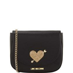 Pave Heart Crossbody Bag