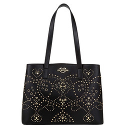 Studded Patterned Tote