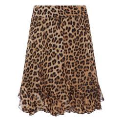 Leopard Print Ruffle Skirt