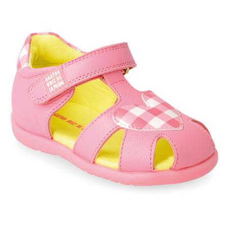 Check Heart Print Sandals