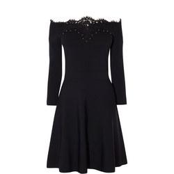 Lace Bardot Mini Dress