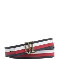 Reversible Stripe Leather Belt