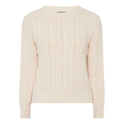 Pearl Cable Knit Sweater