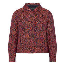 Jacquard Print Cropped Jacket