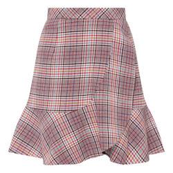 Ruffle Check Skirt