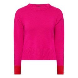 Two Colour Round Neck Sweater