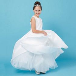 Lace Bodice Communion Dress