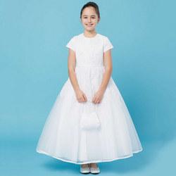 Diamanté Communion Dress