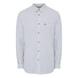 Square Print Textured Shirt
