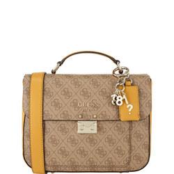 Kathryn Logo Satchel Bag