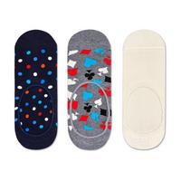 Three-Pack Mini Dot Liner Socks