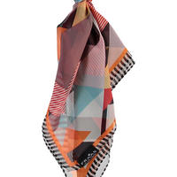 Triangle Print Silk Scarf