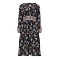 Paisley Floral Midi Dress