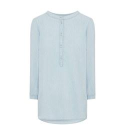 Chambray Cropped Shirt