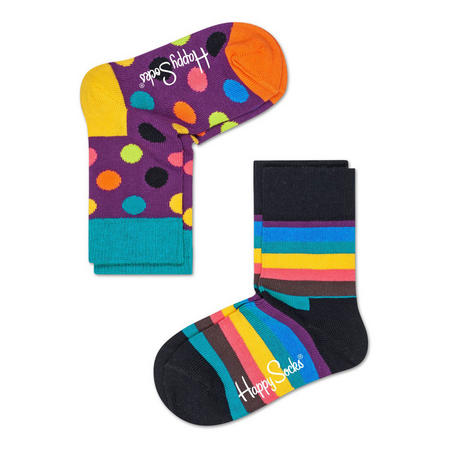 Two-Pack Stripe & Dot Kids Socks