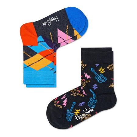 Two-Pack Guitar & Argyle Kids Socks