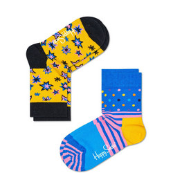 Two-Pack Stars And Stripes Kids Socks