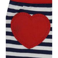 Striped Heart Detail Romper