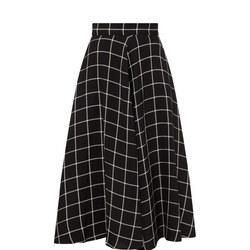 Linen Check Skirt