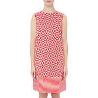 Renier Geometric Print Dress