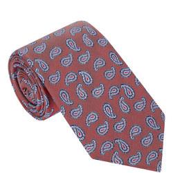 Colour-Block Paisley Tie