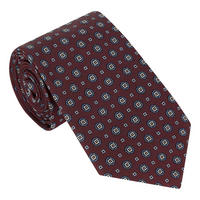Floral Geometric Print Tie