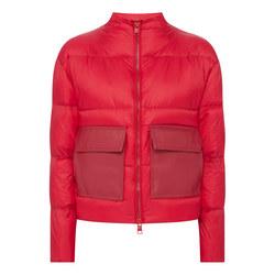 Down Leather Pocket Jacket