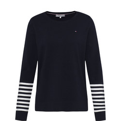 Selena Crew Neck Striped Sweater