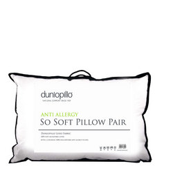 Dunlopillo Anti Allergy So Soft Pillow Pair