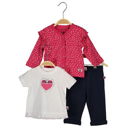Love Bug Three-Piece Outfit Set