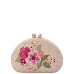 Flora Embroidered Clutch