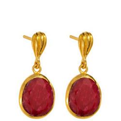 Baja Earrings with Ruby