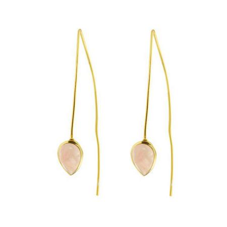 Seadrop Earrings with Rose Quartz