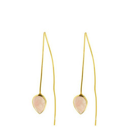 Seadrop Earrings with Rose Quartz