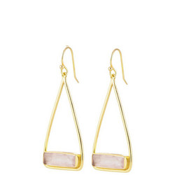 Manhattan Swing Earrings with Rose Quartz