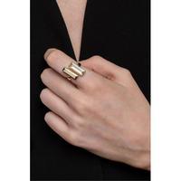 Manhattan Bar Ring with Rose Quartz
