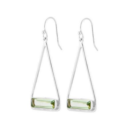 Manhattan Swing Earrings with Green Amethyst
