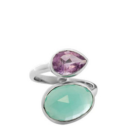 Antibes Ring with Aqua and Amethyst