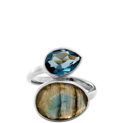 Antibes Ring with Iolite and Labradorite